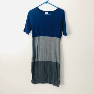 Small Lularoe blue/gray dress